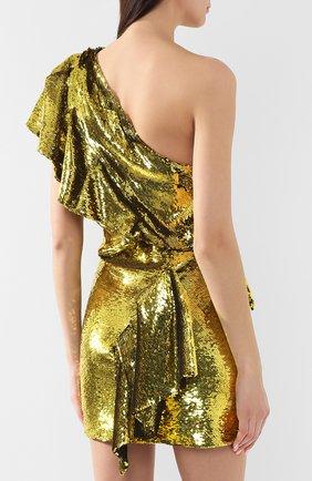 Мини-платье Alexandre Vauthier желтое | Фото №4