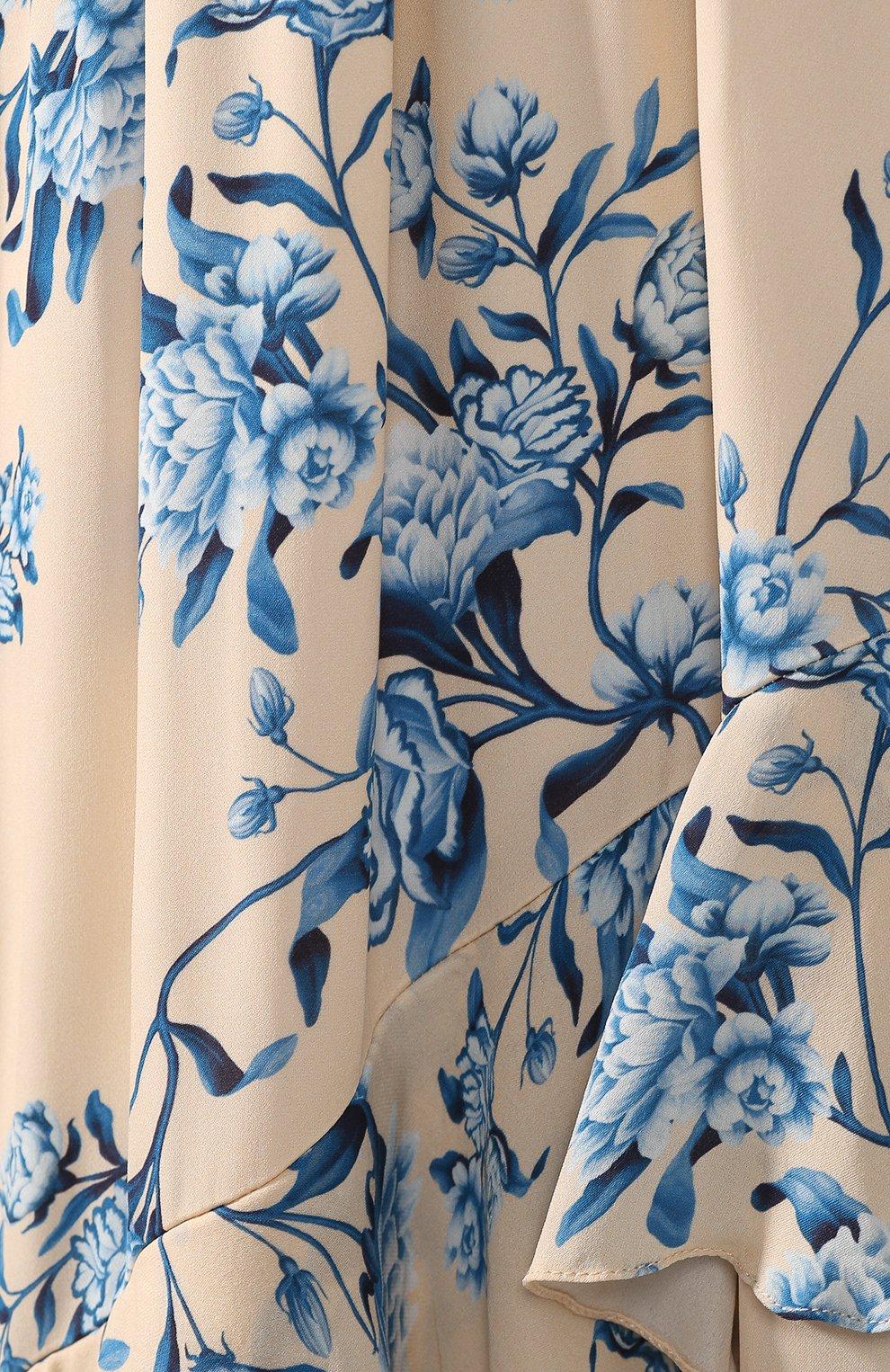 Шелковое платье Johanna Ortiz голубое | Фото №5