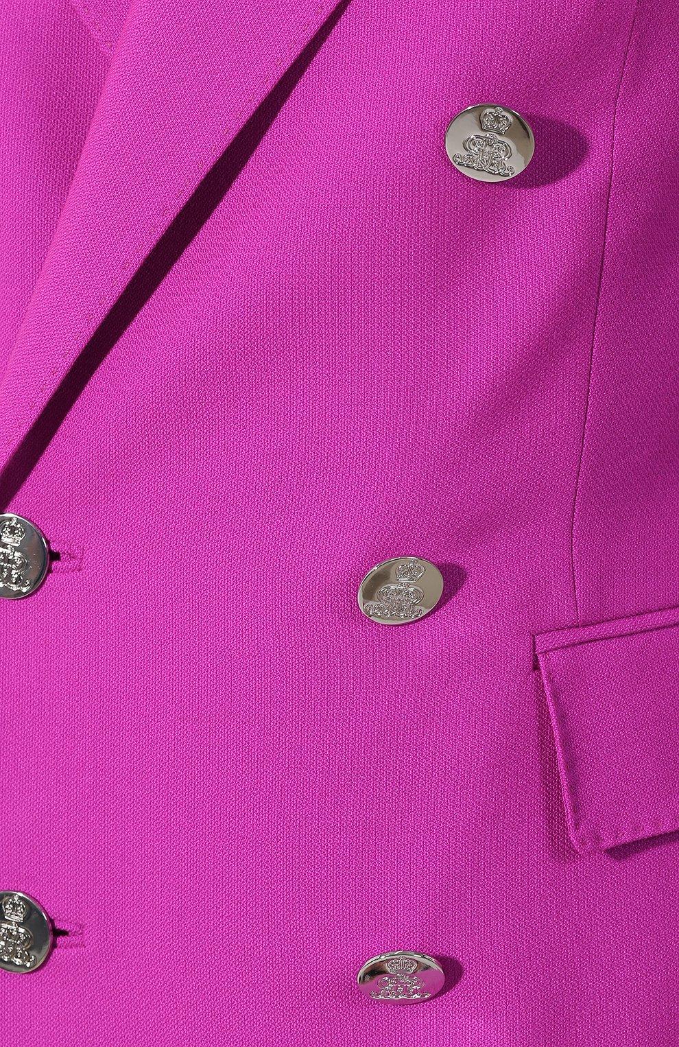 Кашемировый жакет Ralph Lauren фуксия | Фото №5