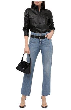 Женские джинсы с поясом RTA голубого цвета, арт. WS9132-224CLEAN | Фото 2