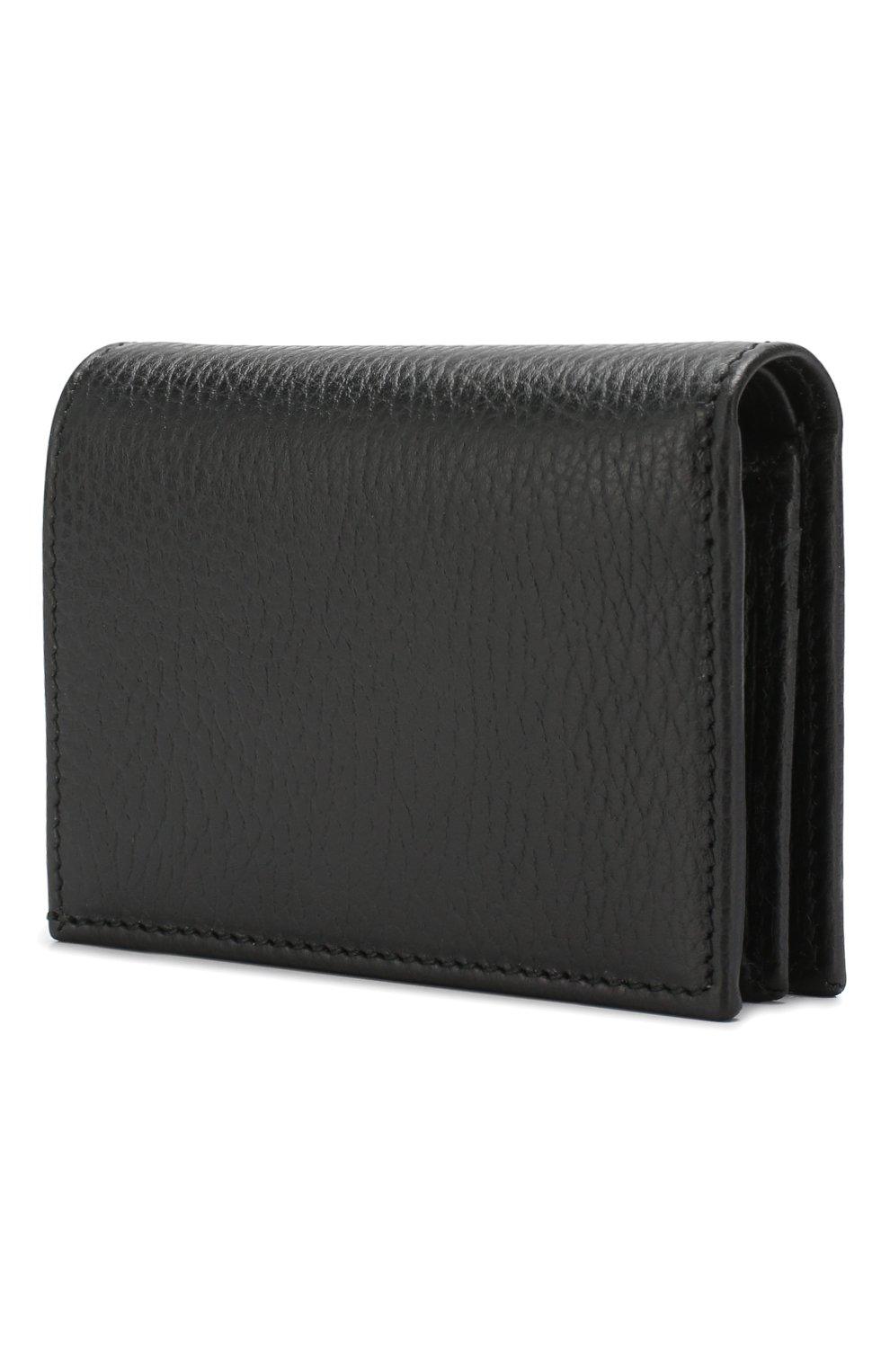Кожаное портмоне Gucci черного цвета   Фото №2