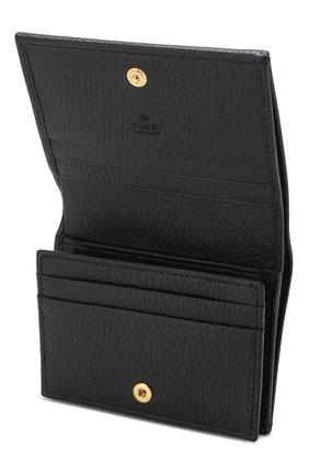 Кожаное портмоне Gucci черного цвета   Фото №3