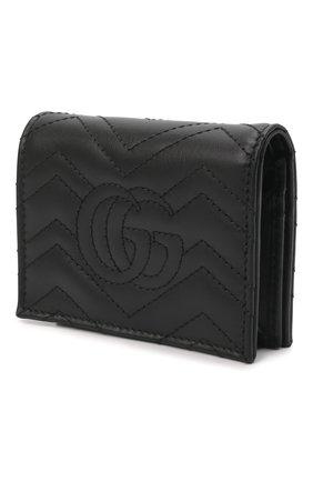Женские кожаное портмоне gg marmon GUCCI черного цвета, арт. 466492/DTD1T | Фото 2