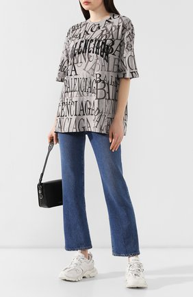 Женские текстильные кроссовки track BALENCIAGA белого цвета, арт. 542436/W1GB1 | Фото 2