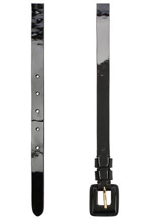 Кожаный ремень Ralph Lauren черный   Фото №2