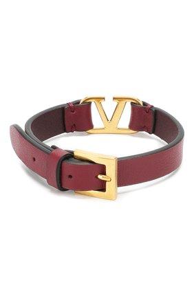 Кожаный браслет Valentino Garavani   Фото №2