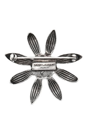 Брошь Saint Laurent серебряная | Фото №2