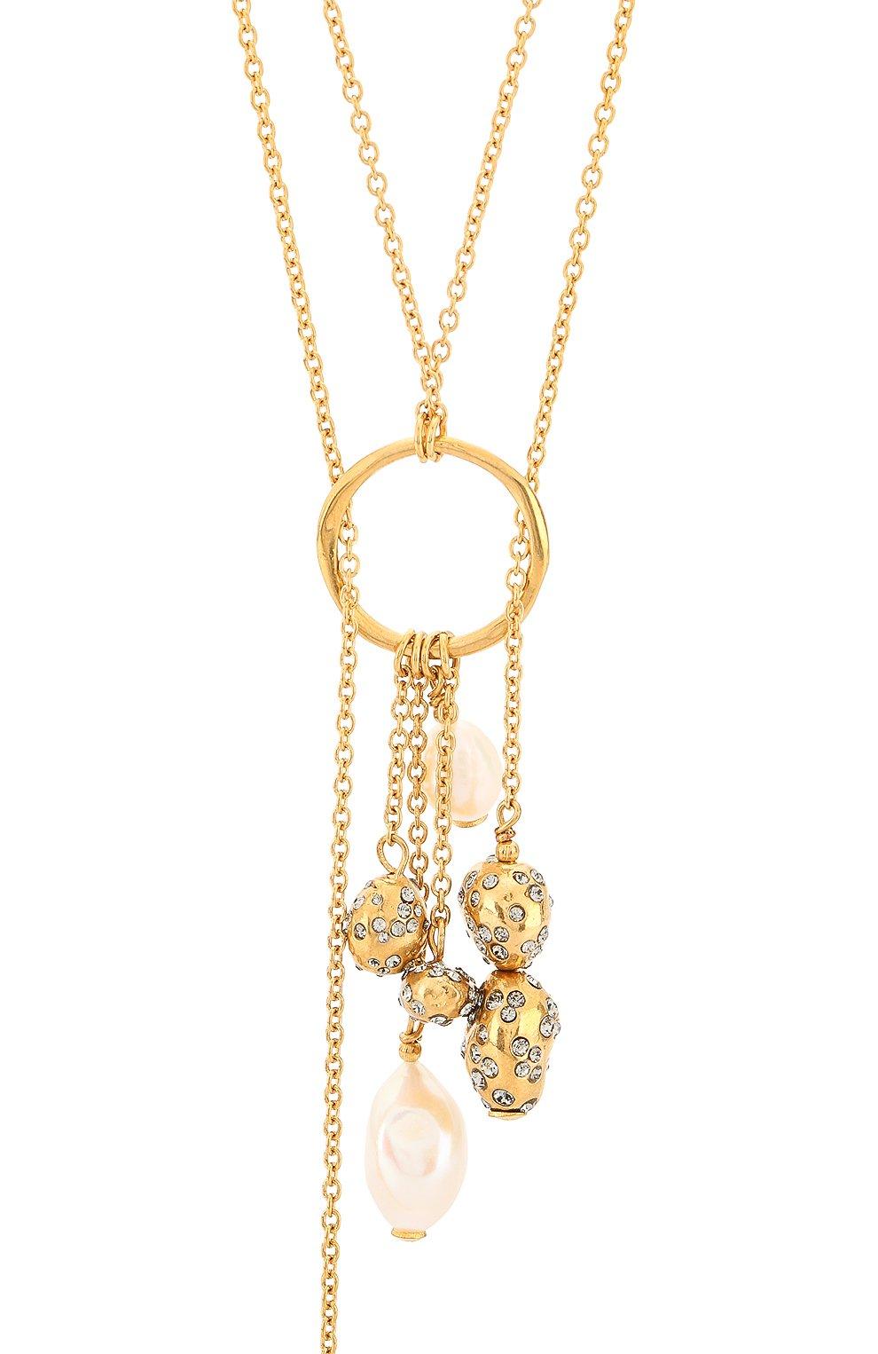 Колье Givenchy золотое | Фото №2