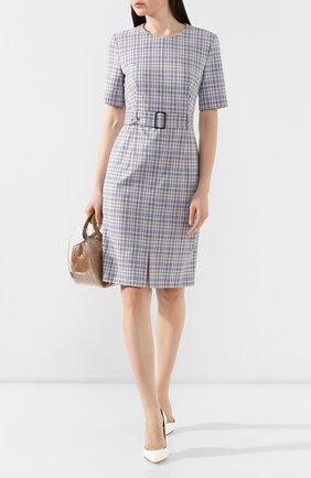 Женское платье BOSS темно-синего цвета, арт. 50411054 | Фото 2