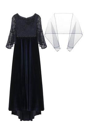 Платье-макси с шарфом | Фото №1
