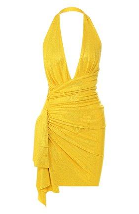 Мини-платье Alexandre Vauthier желтое | Фото №1