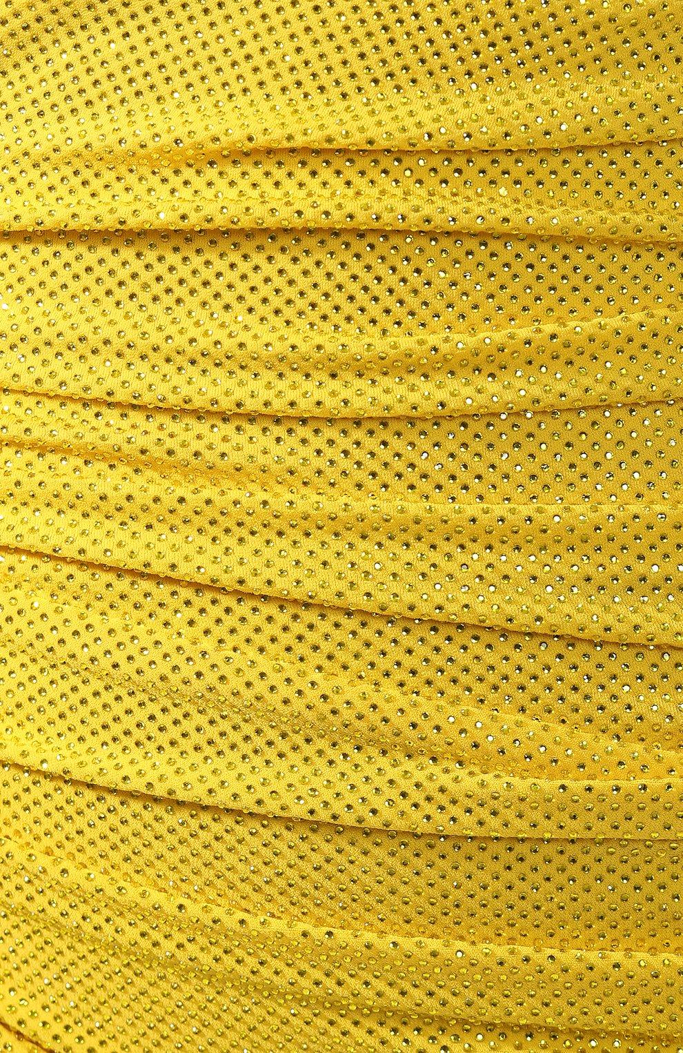 Мини-платье Alexandre Vauthier желтое | Фото №5