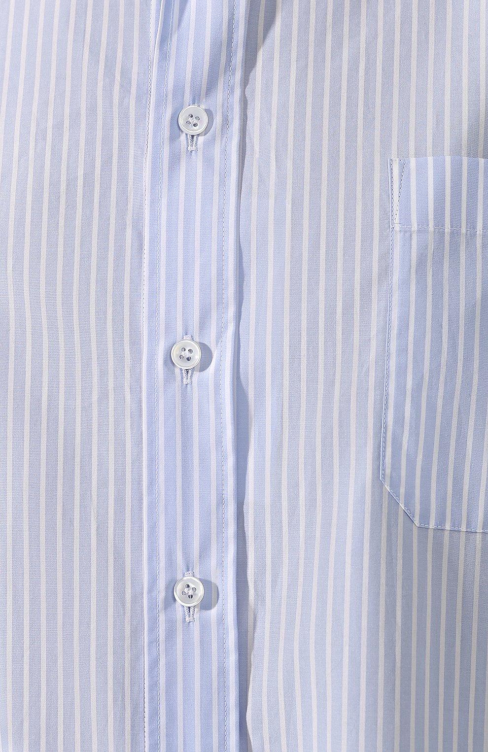 Хлопковая блузка Maison Margiela голубая | Фото №5