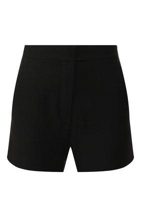 Женские шорты из смеси шерсти и шелка VALENTINO черного цвета, арт. SB3RF0T51CF | Фото 1