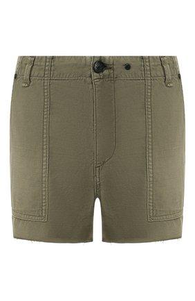 Женские джинсовые шорты RAG&BONE хаки цвета, арт. W1952M2930LV | Фото 1