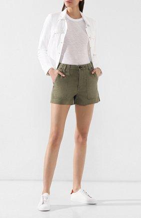 Женские джинсовые шорты RAG&BONE хаки цвета, арт. W1952M2930LV | Фото 2