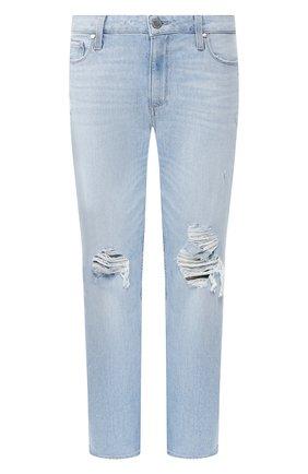 Женские джинсы с потертостями PAIGE голубого цвета, арт. 4820B61-6328 | Фото 1