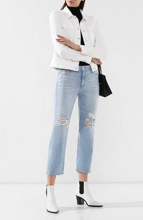 Женские джинсы с потертостями PAIGE голубого цвета, арт. 4820B61-6328 | Фото 2