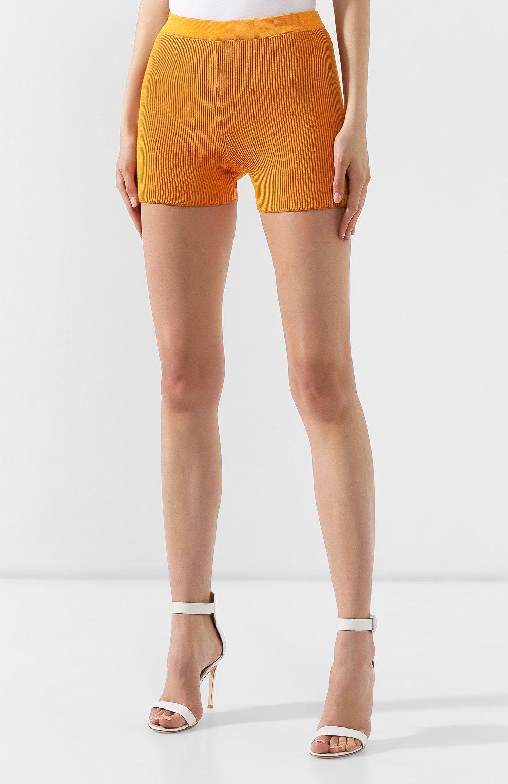 Женские шорты JACQUEMUS оранжевого цвета, арт. 192KN18/42751 | Фото 3