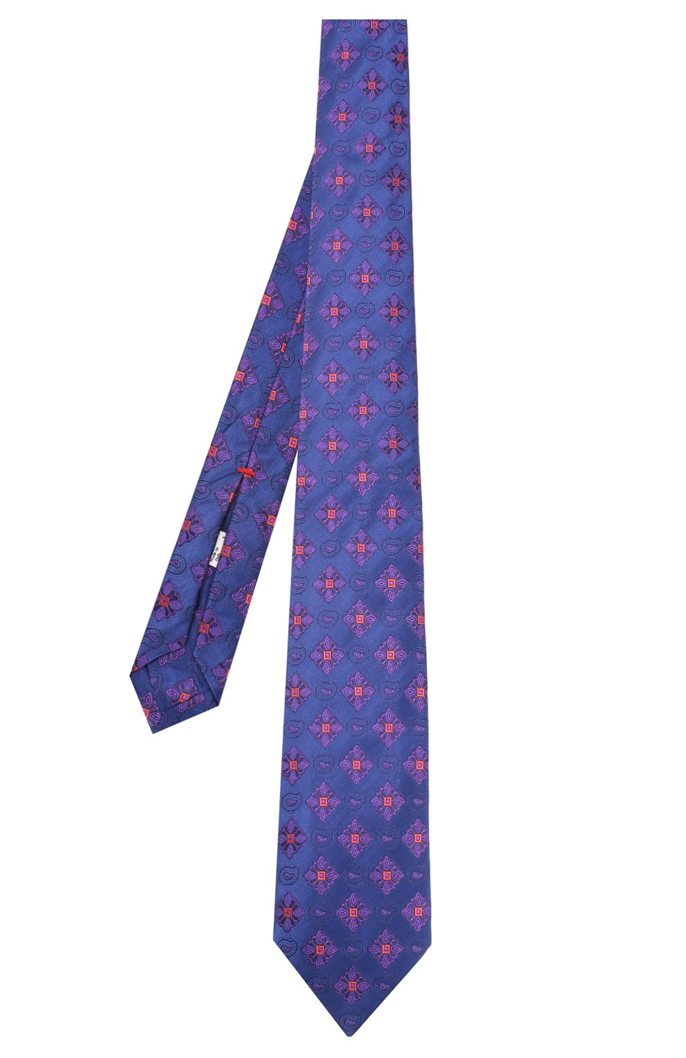 Шелковый галстук Isaia синего цвета | Фото №2