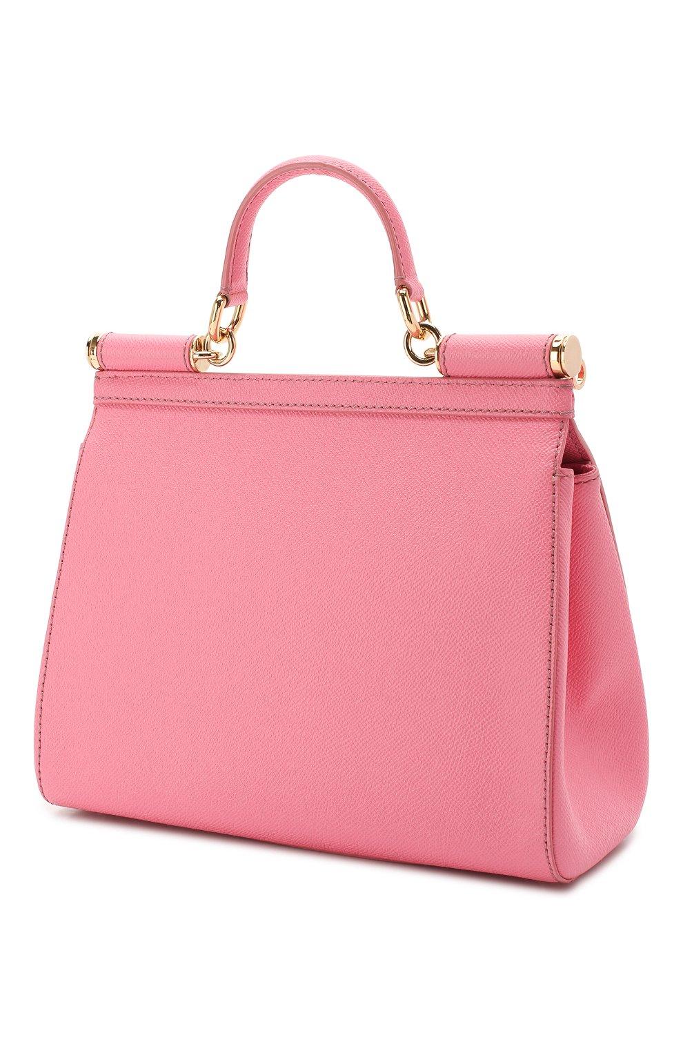 8b433bef8d3b Женская сумка sicily medium DOLCE & GABBANA розовая цвета — купить ...