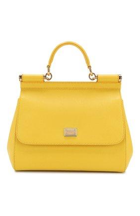 Сумка Sicily medium Dolce & Gabbana желтая цвета | Фото №1