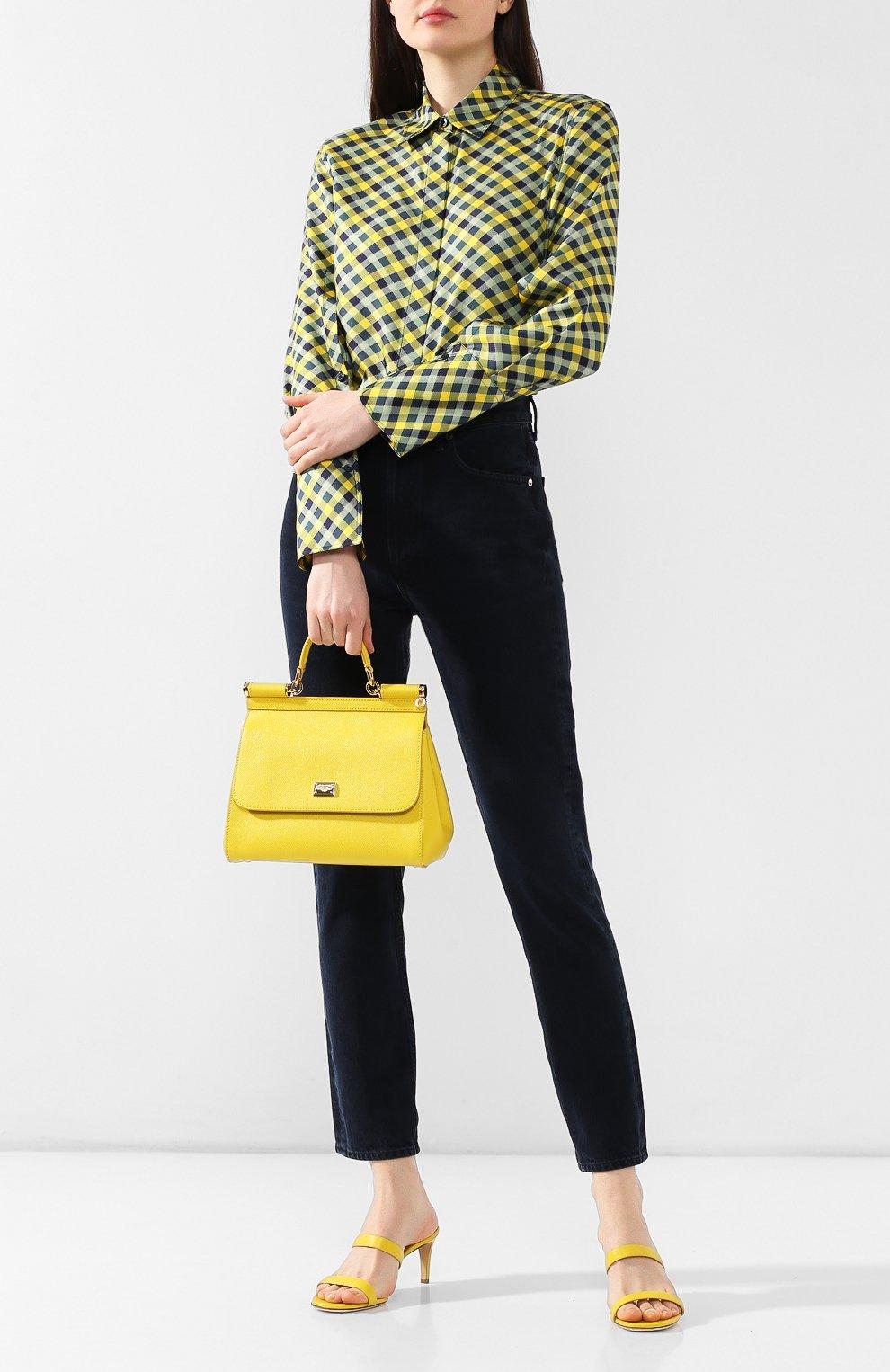 Сумка Sicily medium Dolce & Gabbana желтая цвета | Фото №2