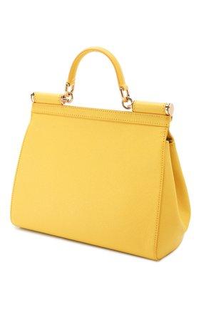 Сумка Sicily medium Dolce & Gabbana желтая цвета | Фото №3