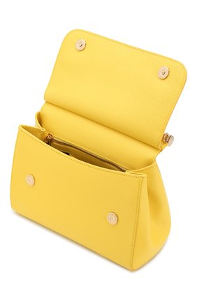 Сумка Sicily medium Dolce & Gabbana желтая цвета | Фото №4