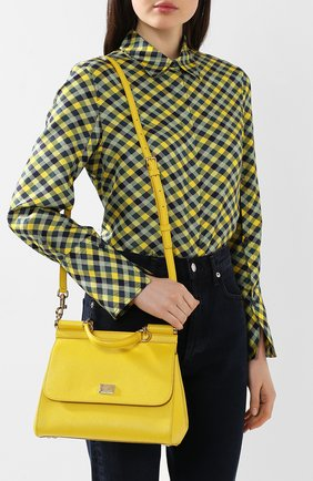 Сумка Sicily medium Dolce & Gabbana желтая цвета | Фото №5