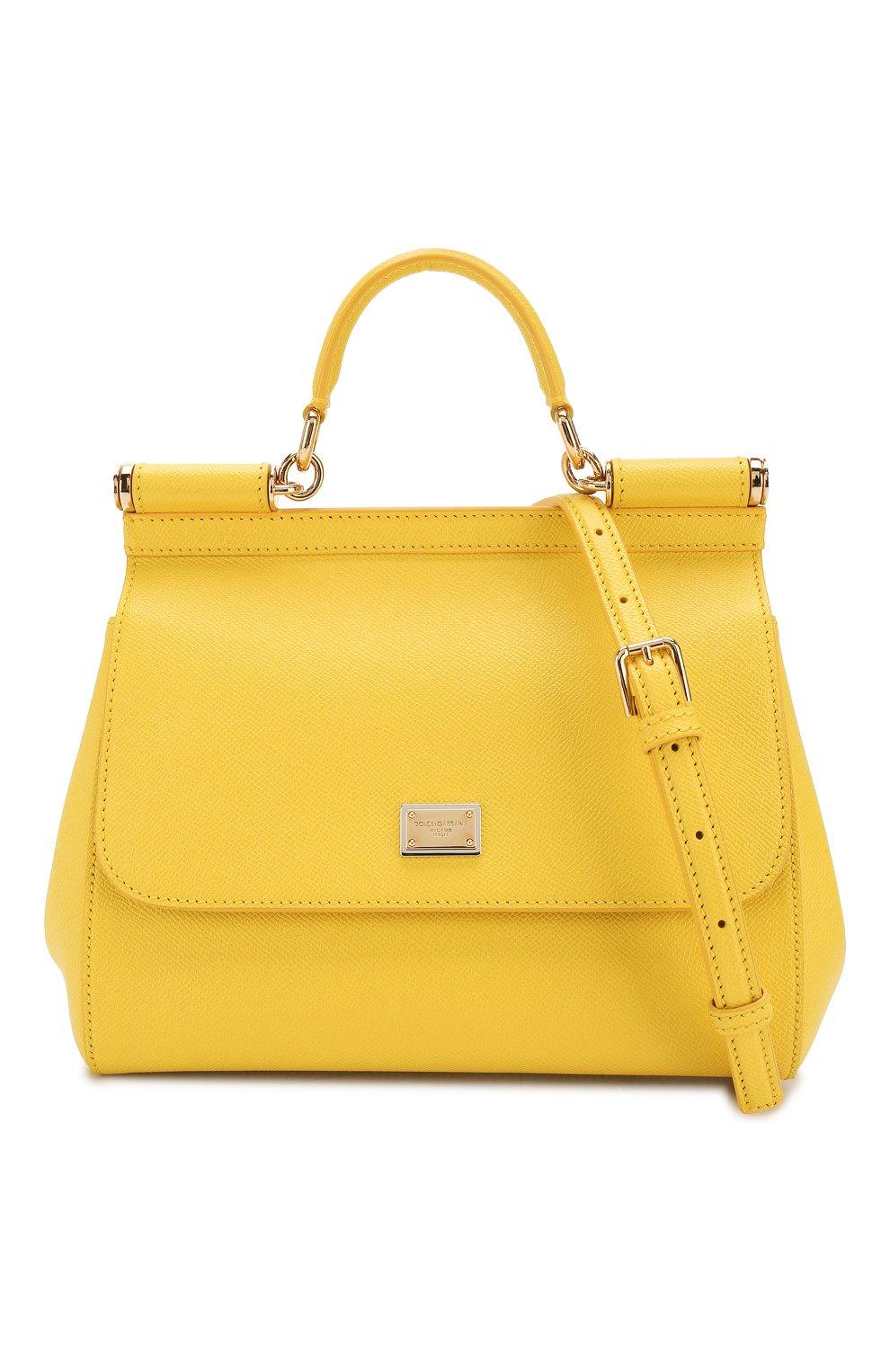 Сумка Sicily medium Dolce & Gabbana желтая цвета | Фото №6