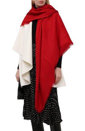 Женский платок из смеси шелка и шерсти GUCCI красного цвета, арт. 406236/3G632 | Фото 2 (Материал: Текстиль, Шерсть; Статус проверки: Проверено)