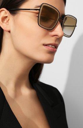 Мужские солнцезащитные очки DOLCE & GABBANA коричневого цвета, арт. 2225-13116E | Фото 2