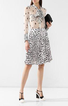 Женские кожаные босоножки mayah  RALPH LAUREN черно-белого цвета, арт. 800753819 | Фото 2