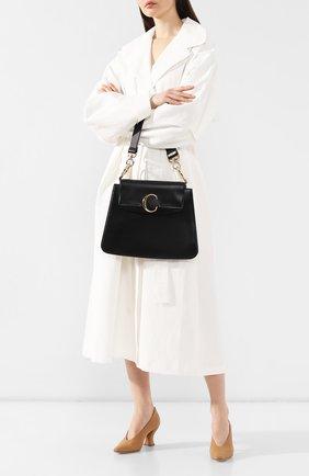 Женская сумка chloé c medium  CHLOÉ черного цвета, арт. CHC19US194A37   Фото 2