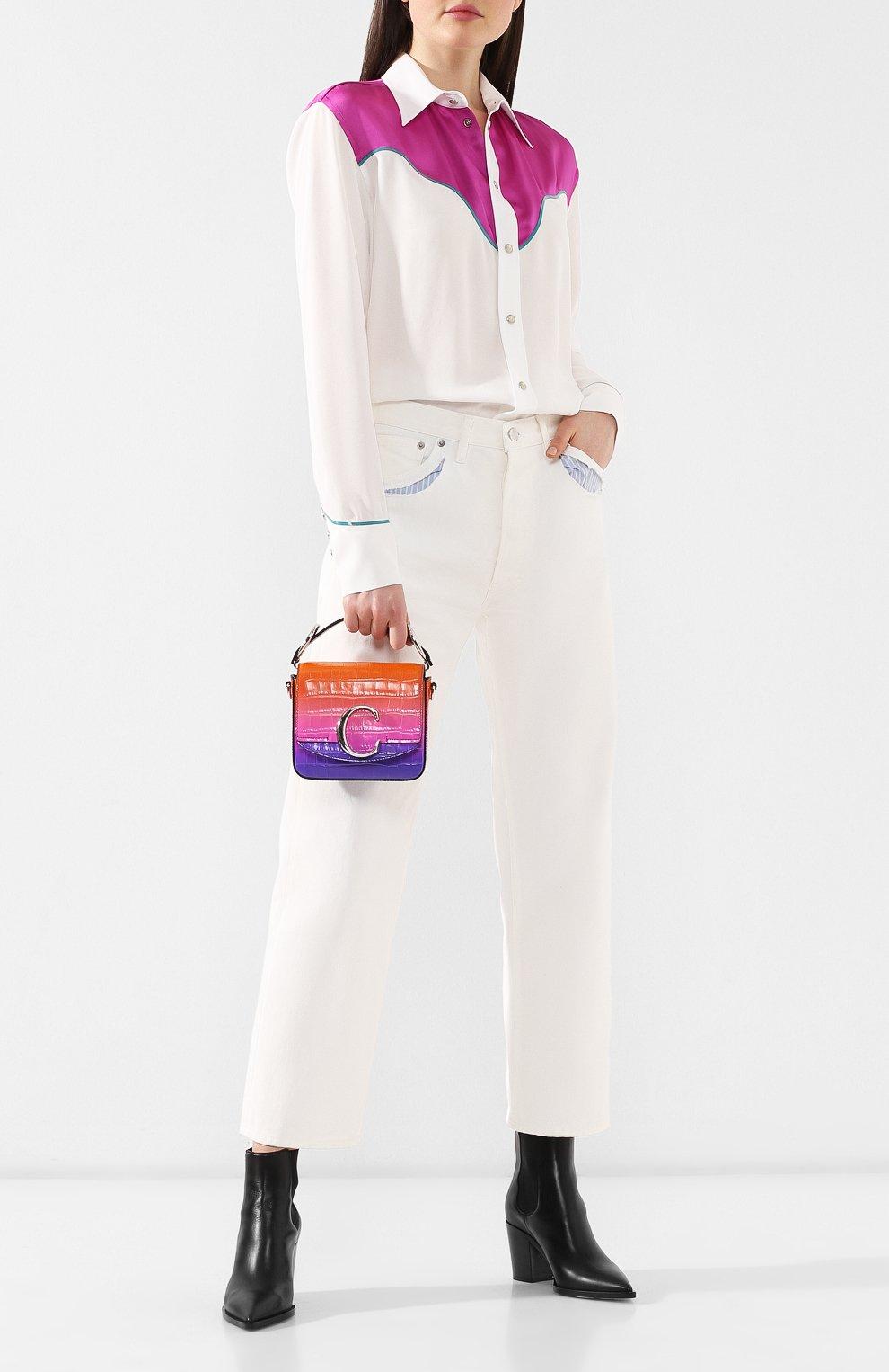 Сумка Chloé C mini  Chloé фиолетовая цвета | Фото №2