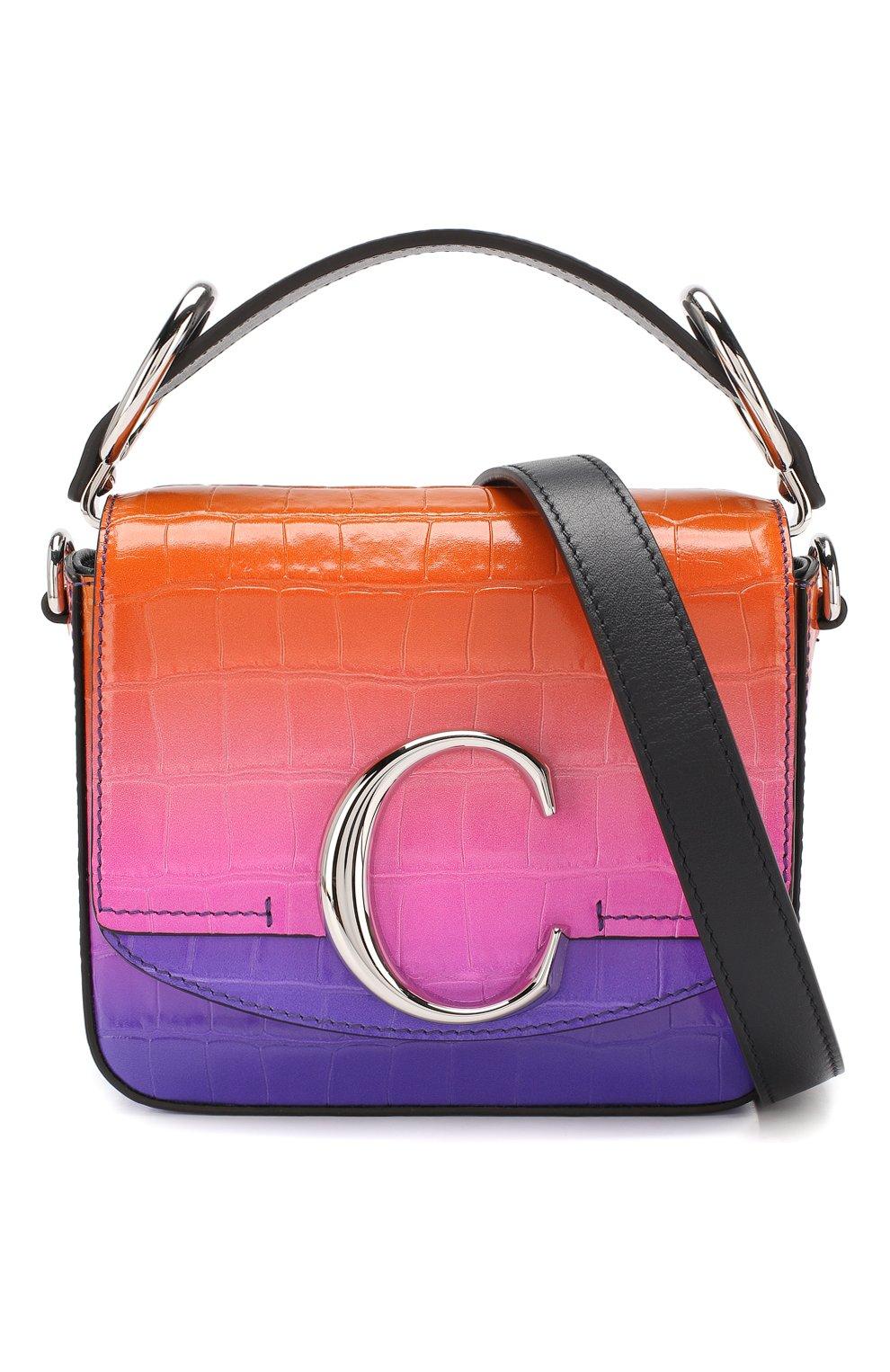 Сумка Chloé C mini  Chloé фиолетовая цвета | Фото №6