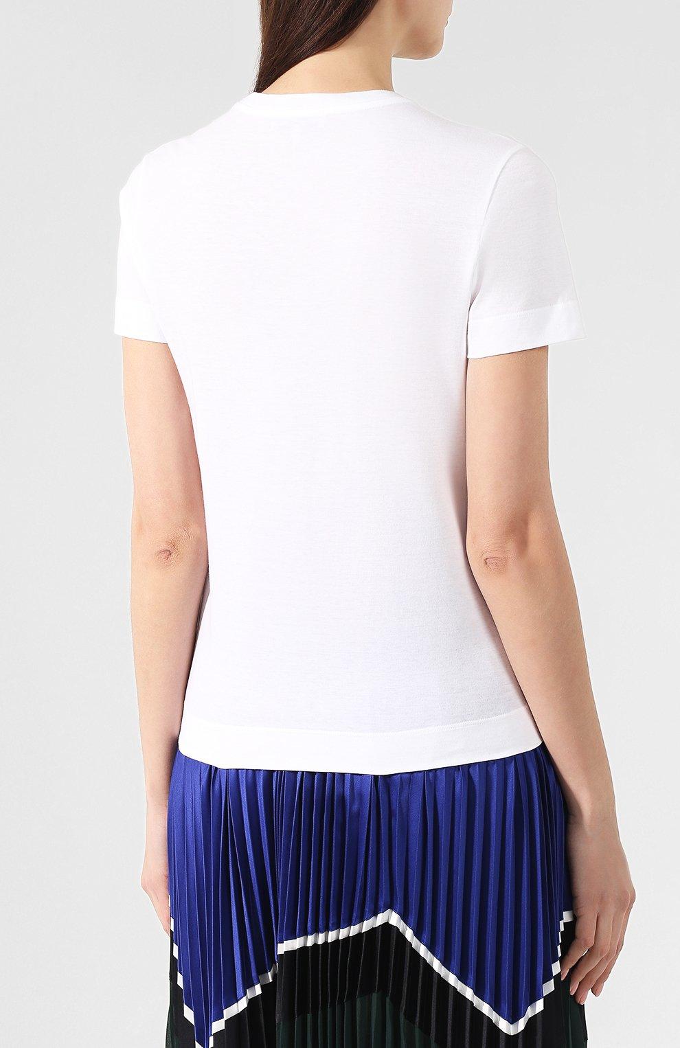 Хлопковая футболка Emilio Pucci белая | Фото №4