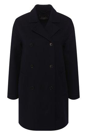 Женское шерстяное пальто LORO PIANA темно-синего цвета, арт. FAI0809 | Фото 1