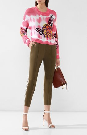 Женские кожаные леггинсы SPRWMN хаки цвета, арт. J0G-007-L/J0GGERS W 2 STRIPES | Фото 2