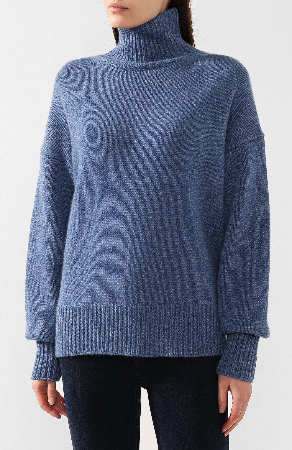 Кашемировый пуловер с высоким воротником | Фото №3