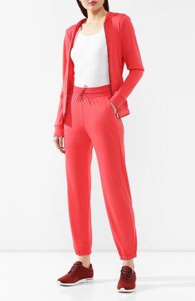Женские шерстяные брюки LORO PIANA кораллового цвета, арт. FAG2441   Фото 2