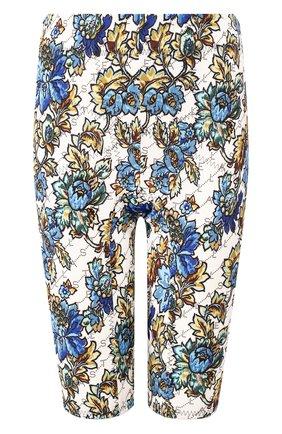 Шорты с принтом Stella McCartney голубые | Фото №1