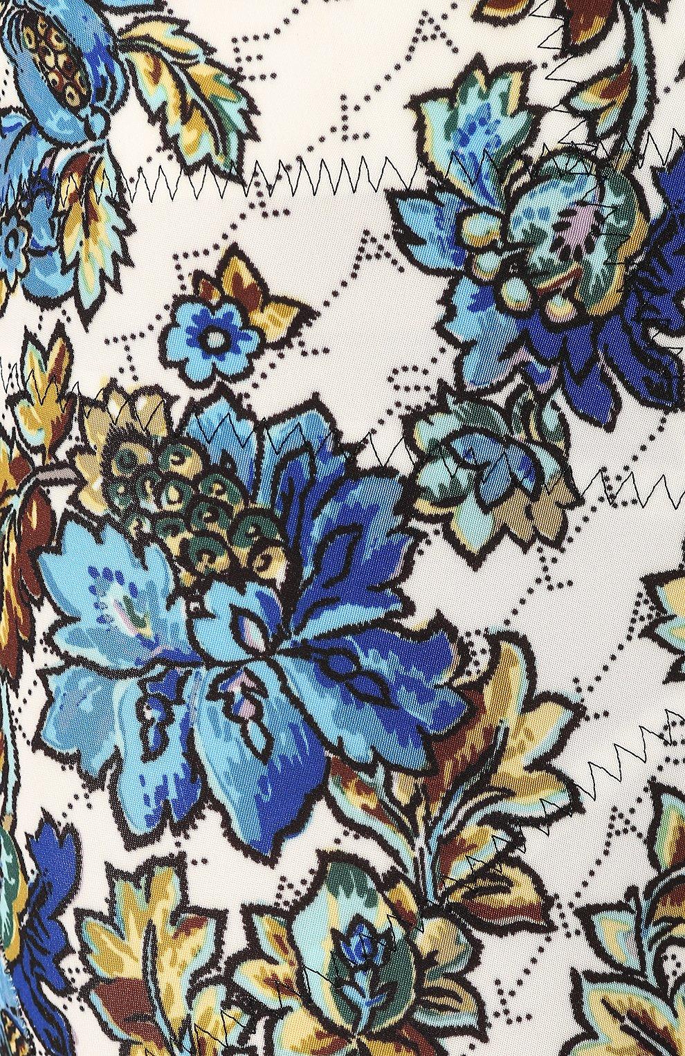 Шорты с принтом Stella McCartney голубые | Фото №5