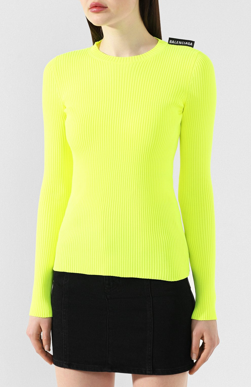 Пуловер Balenciaga желтый | Фото №3
