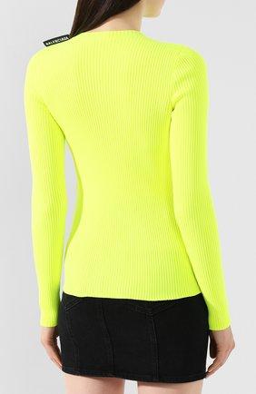 Пуловер Balenciaga желтый | Фото №4