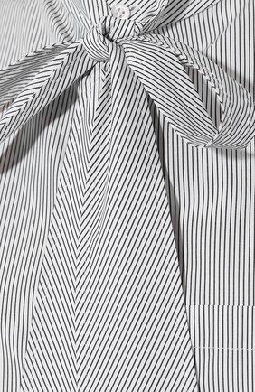 Хлопковая рубашка Balenciaga черно-белая | Фото №5