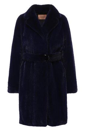 Женская норковая шуба YVES SALOMON синего цвета, арт. 9EYM28995VMLX | Фото 1