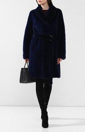 Женская норковая шуба YVES SALOMON синего цвета, арт. 9EYM28995VMLX | Фото 2
