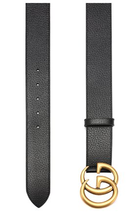 Мужской кожаный ремень GUCCI черного цвета, арт. 406831/DJ20T | Фото 2